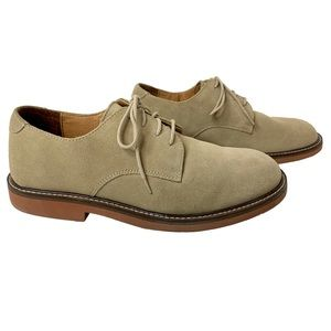 French Shriner Tan Suede Oxford Buck Shoes